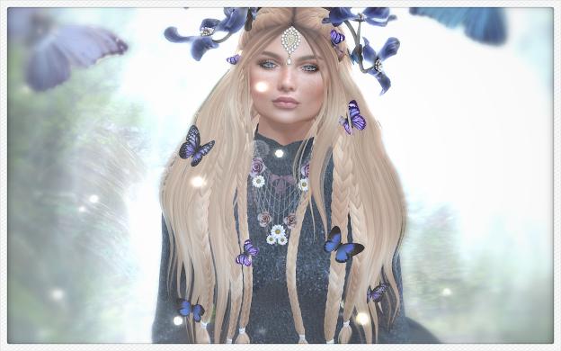 faerie, blue, butterflies, forest